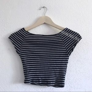 Brandy Melville Ellery blue stripe top